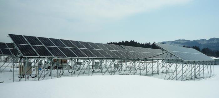 西会津H様 営農型PVシステム インリーソーラー45.36kW