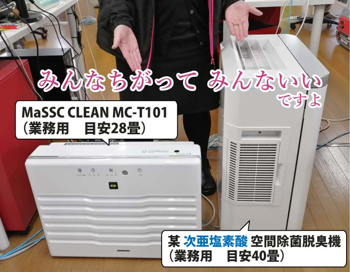 MaSSC CLEANと他機種との比較